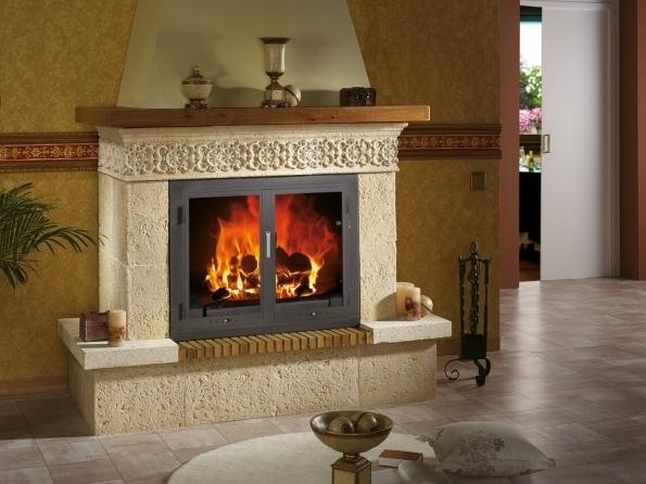 Revestimiento chimenea en piedra salamanca modelo triana - Revestimientos de chimeneas rusticas ...