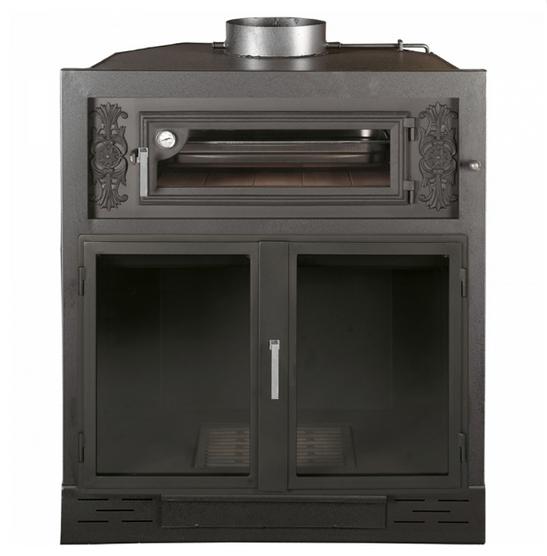 Hogar chimenea en acero al carbono con horno modelo london - Chimeneas de acero ...